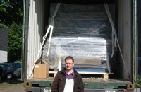 CLR International on site during loading used printing machines